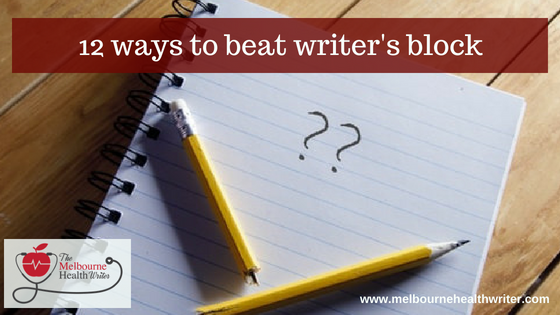 12 ways to beat writer's block
