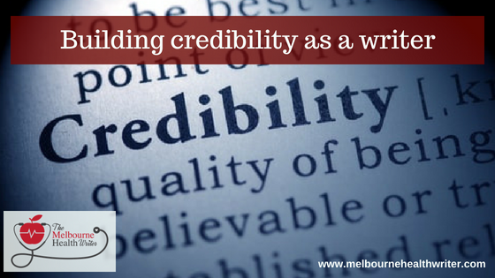 Building credibility as a writer