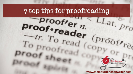 7 top tips for proofreading