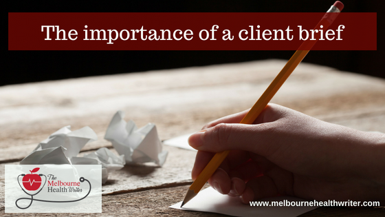 The importance of a client brief