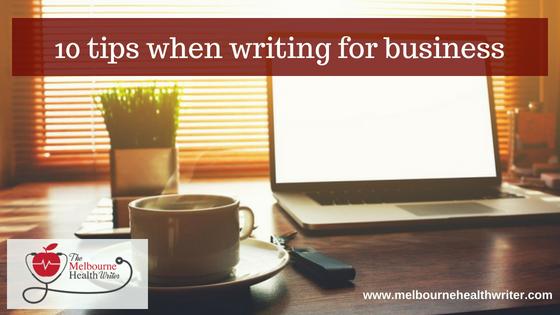 10 tips when writing for business