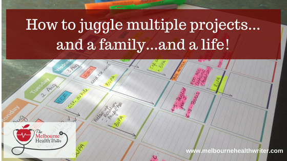 How to juggle multiple projects
