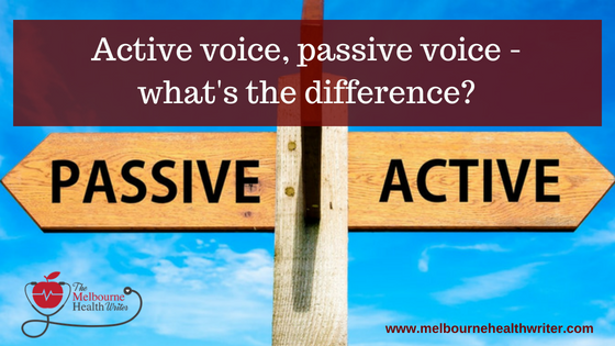 Active voice, passive voice – what's the difference?
