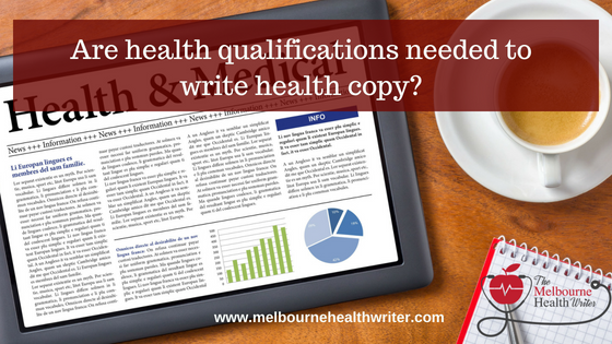 Why you don't need health qualifications to write health content