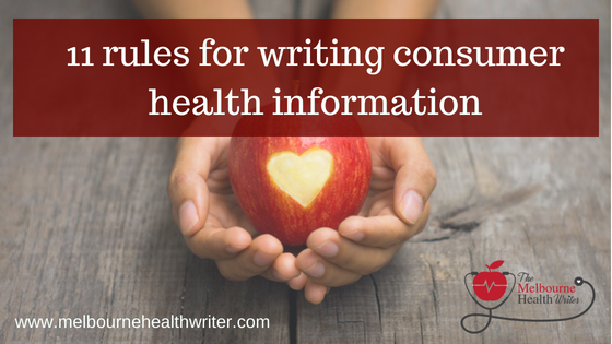 11 rules for writing consumer health information