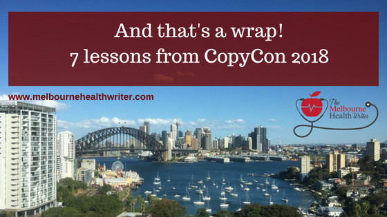 And that's a wrap! 7 lessons from CopyCon 2018
