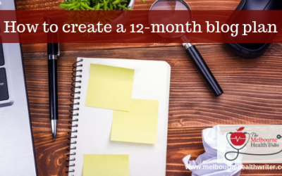 How to create a 12-month blog plan