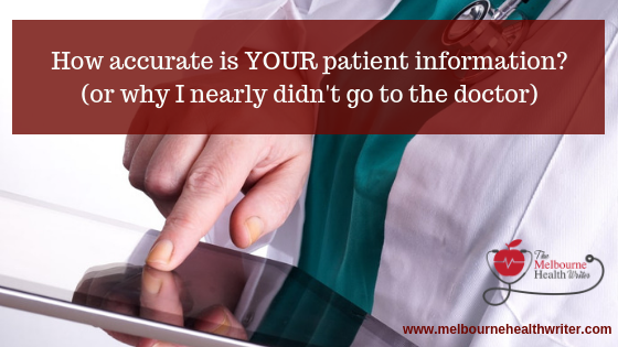 How accurate is YOUR patient information?