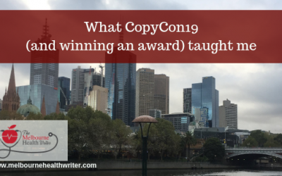 What CopyCon19 (and winning an award) taught me