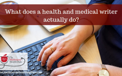 What does a health and medical writer do?