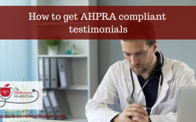 How to get AHPRA compliant testimonials